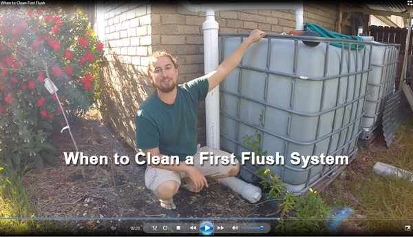 when to clean a first flush system